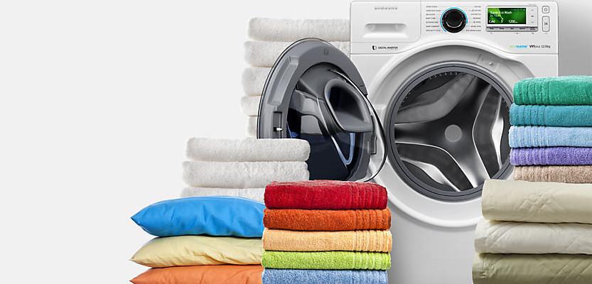 حوله ها با ماشین لباسشویی - نحوه شستن پتو در ماشین لباسشویی